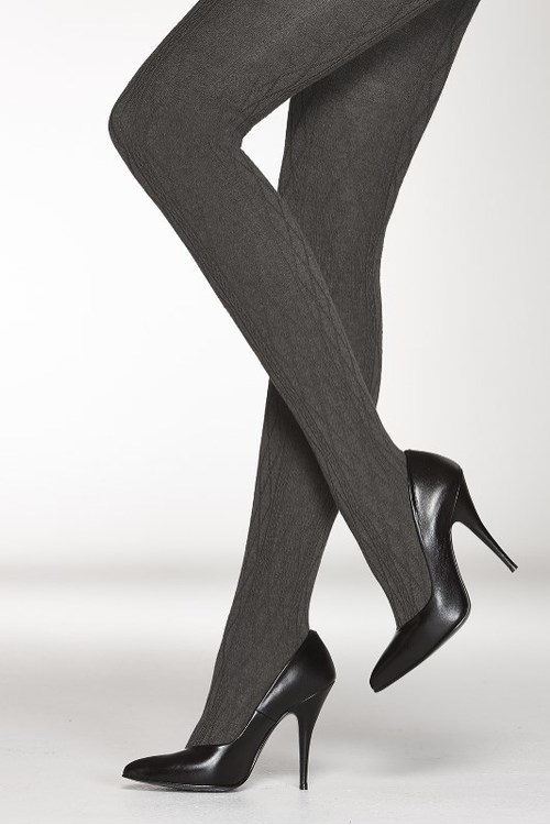 Vogue mönstrad strumpbyxa i ullmix 95760