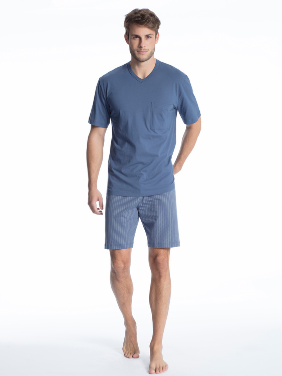 Calida pyjamas Relax Imprint 40080 / 448 mountain blue