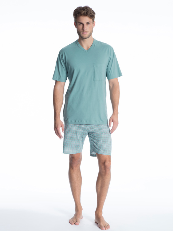 Calida pyjamas Relax Imprint 40080 / 544 smoke blue