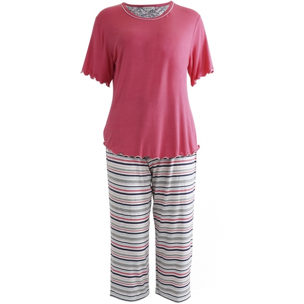 Lady Avenue pyjamas Bamboo 66-107 Pink Coral 763