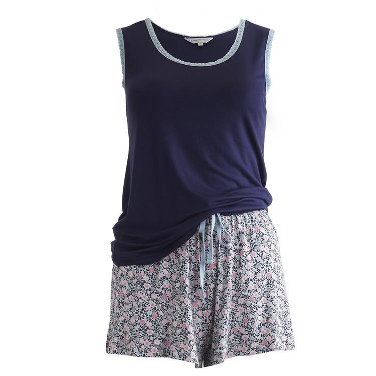 Lady Avenue pyjamas Linne&Shorts Bamboo 66-100 Admiral 770