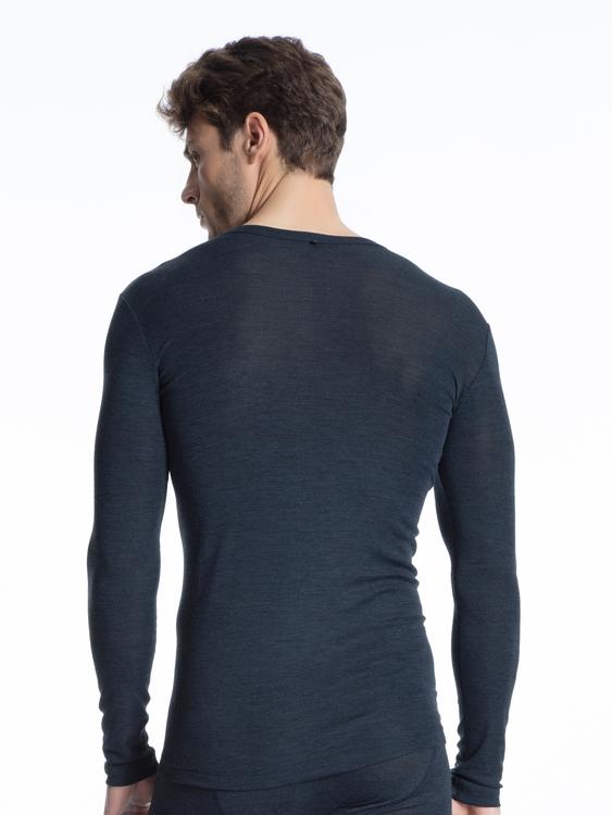 Calida 15060 långärmad tröja i ull och silke för herr