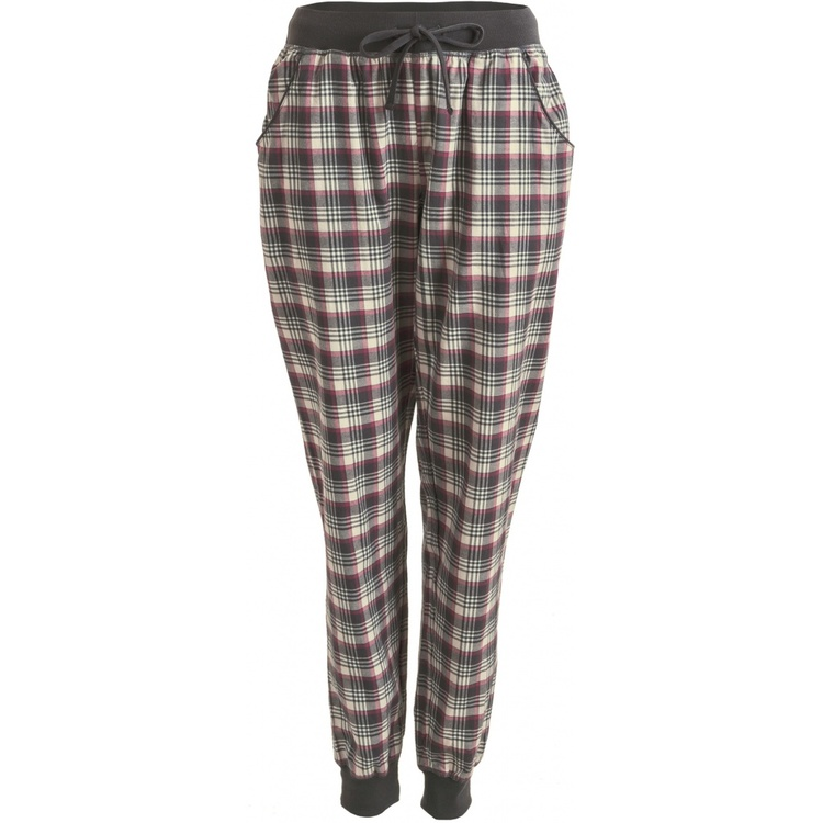 Lady Avenue pyjamasbyxa / mysbyxa bomullsflanell 83-1026 / Wine Checks 282