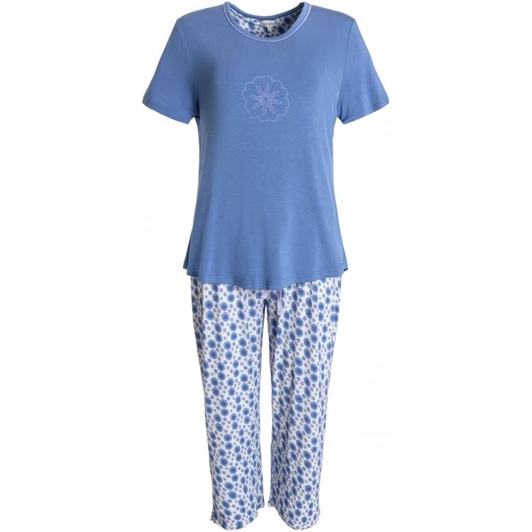 Lady Avenue pyjamas Bamboo 66-207 Floral Blue