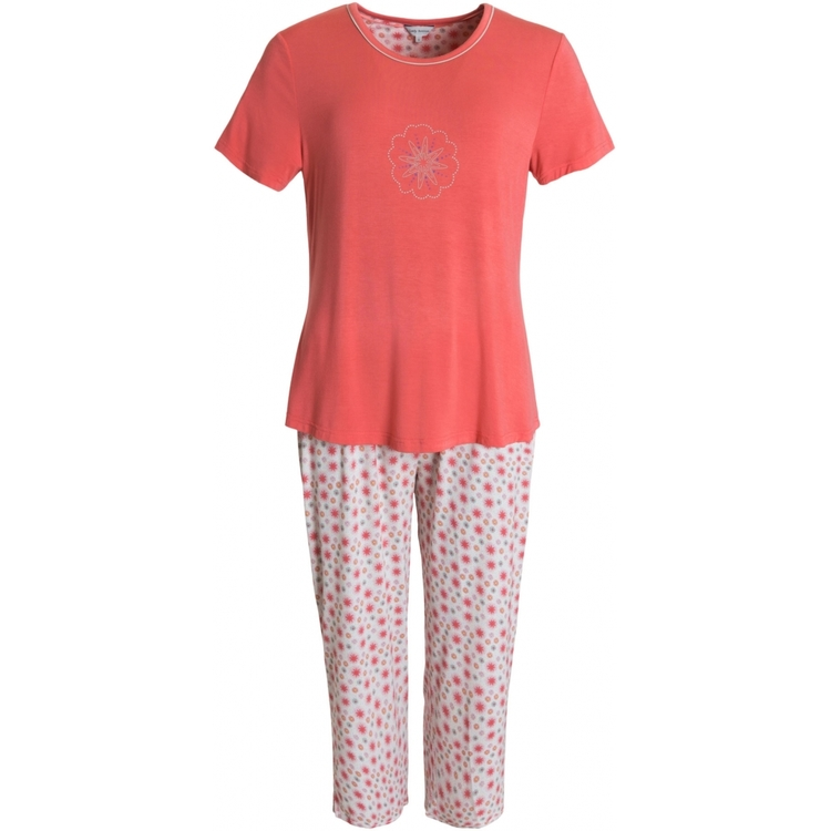 Lady Avenue pyjamas Bamboo 66-207 Floral Rose