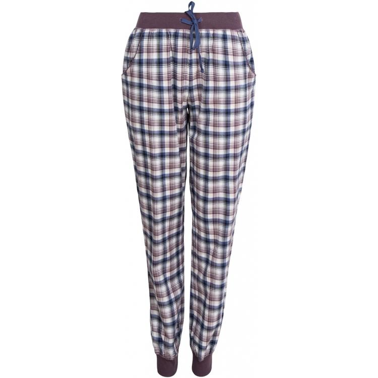 Lady Avenue pyjamasbyxa / mysbyxa bomullsflanell 83-1061 / Blue/Deer 320