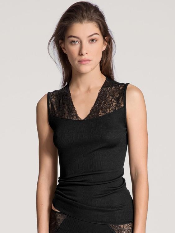Calida topp 12594 Silky Wool Glam / 996 svart