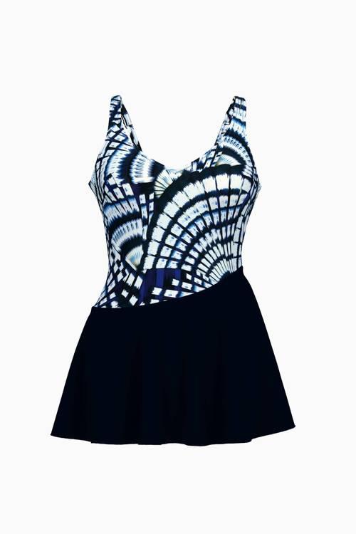 Anita baddräkt m kjol Sosana 7460 blue violet