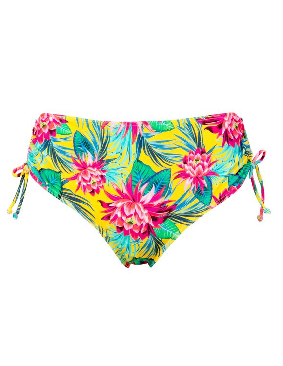 Trofé bikinitrosa snör i sidan 81236 gul blom 3200