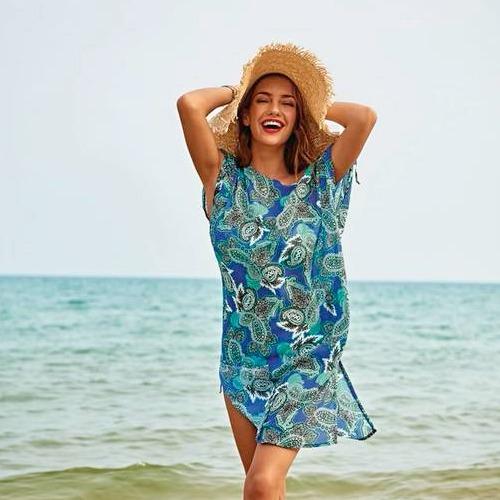 Anita strandklänning Marajo Deep Sea 8138