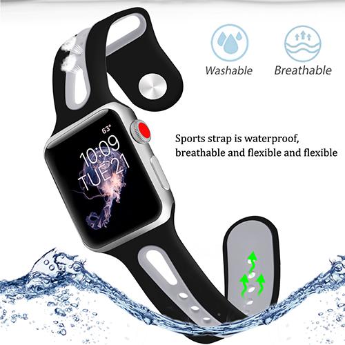 Apple Watch 1 2 3 4 Silikonband- FLERA FÄRGER