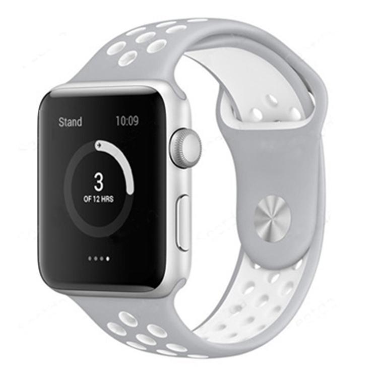 Apple Watch Armband sport Grå/Vit 42/44mm
