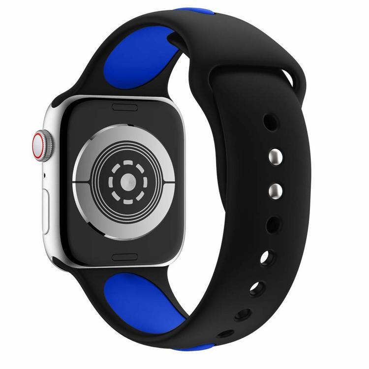 Apple Watch Armband sport Svart/Blå