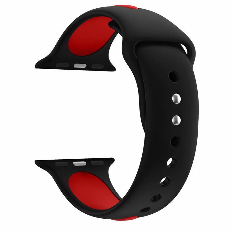 Apple Watch Armband sport Svart/Röd