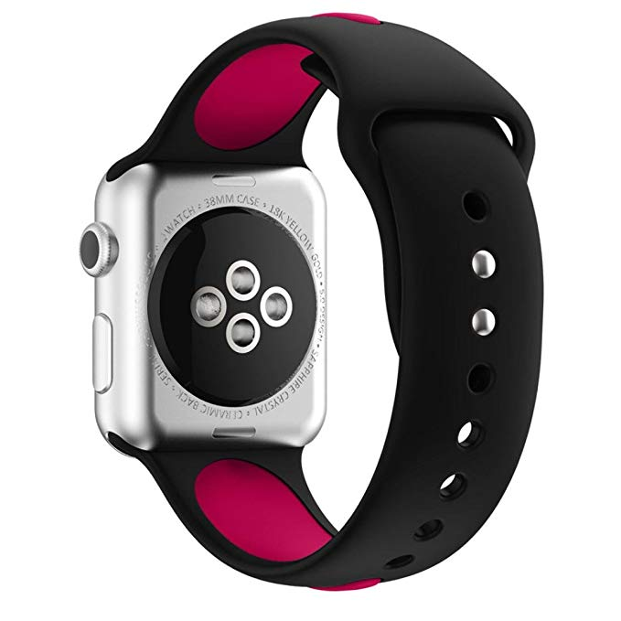 Apple Watch Armband sport Svart/Lila