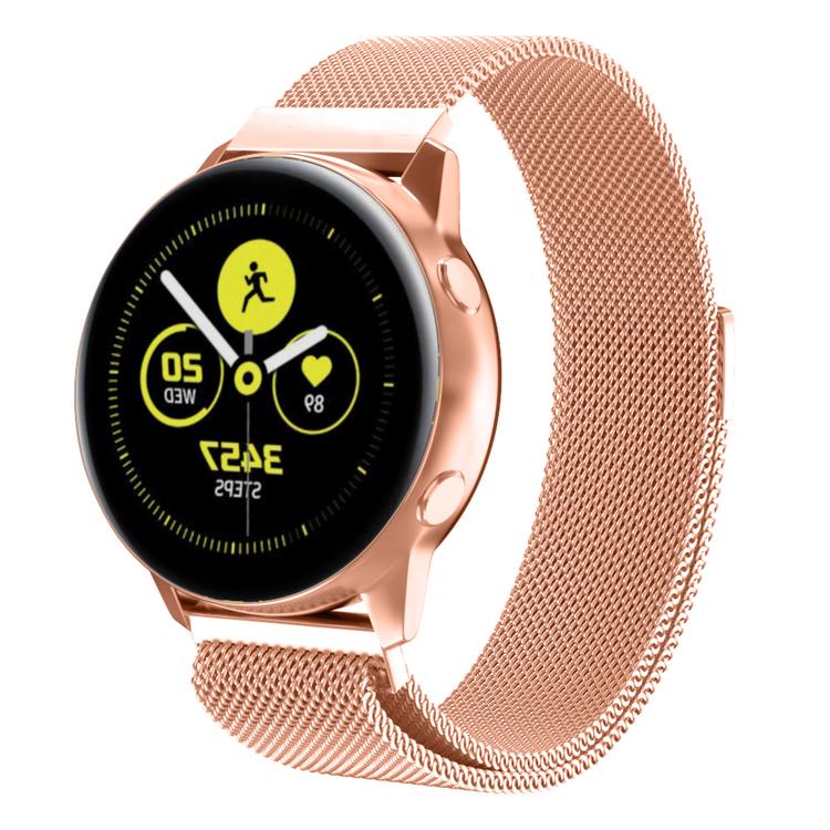 Milanesisk loop-armband till Galaxy Watch Active - Rosa