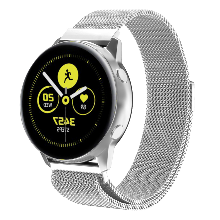 Milanesisk loop-armband till Galaxy Watch Active - Silver