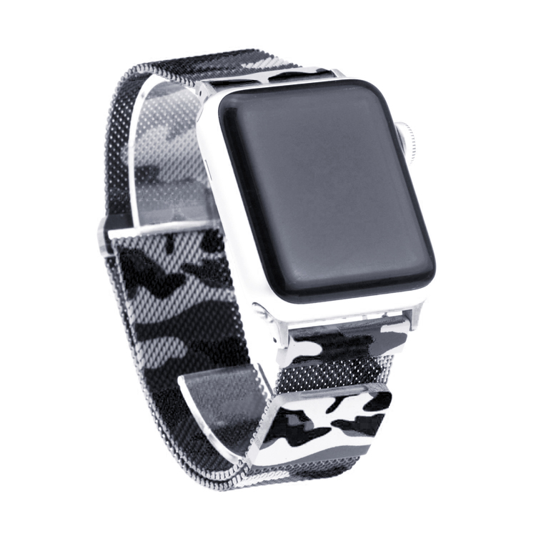 Apple Watch Armband Milanesisk 42/44mm Mörk Kamoflage