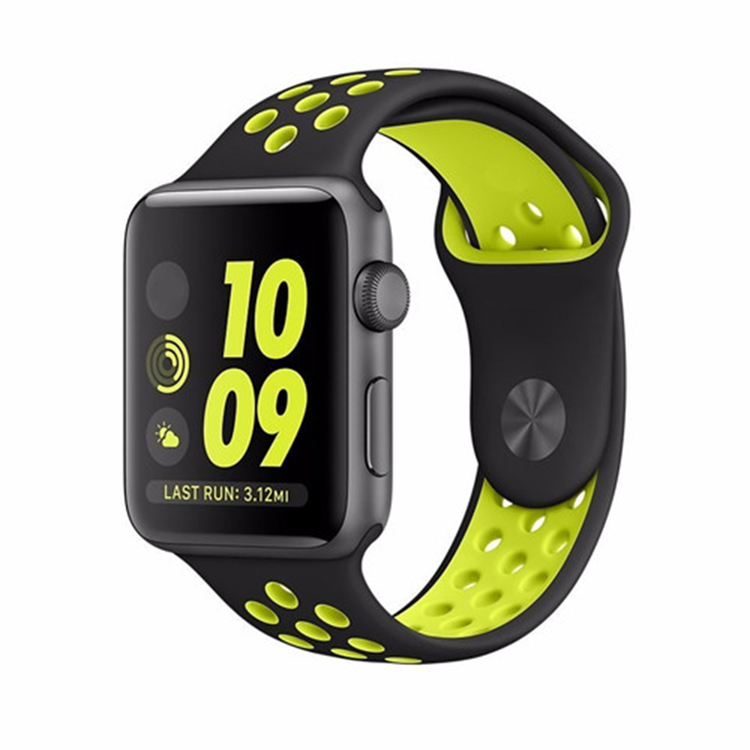 Apple Watch Armband sport Svart/Gul 42/44mm