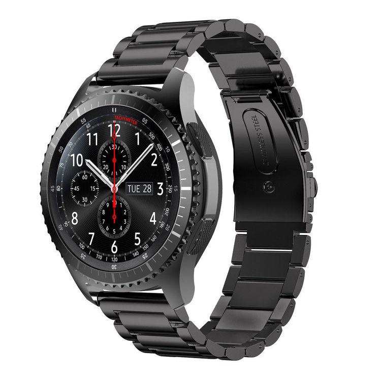 Samsung Galaxy 46mm Watch Borstat Metallarmband SVART