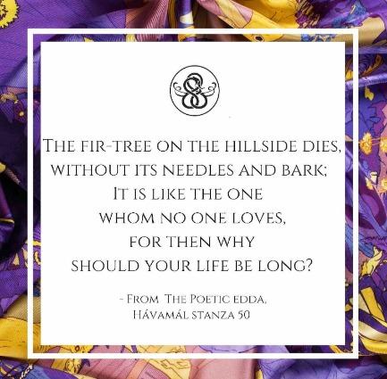Havamal, stanza 50, Poetic Edda