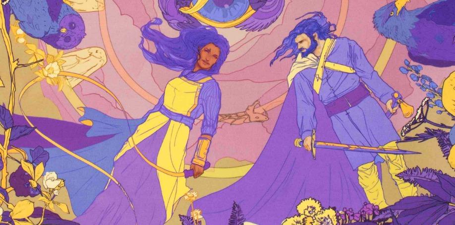 Soldisers illustration av gudinnan Gefjun med kung Gylfe
