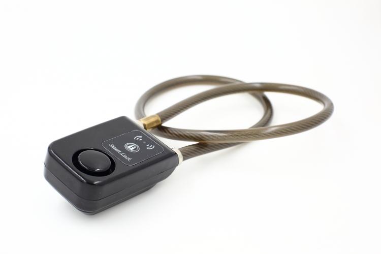 Bluetooth cykellås med larm - Svart - Vajer