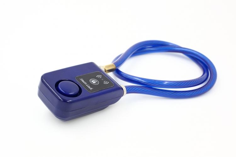 Bluetooth cykellås med larm - Blå - Vajer