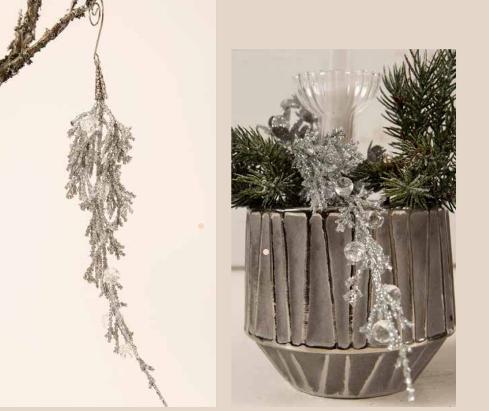 Dekorationskvist- Silver