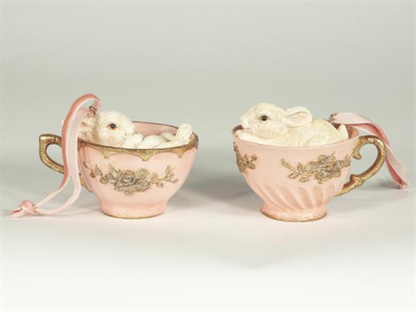 Söta kaniner i kopp 2-Pack- Rosa
