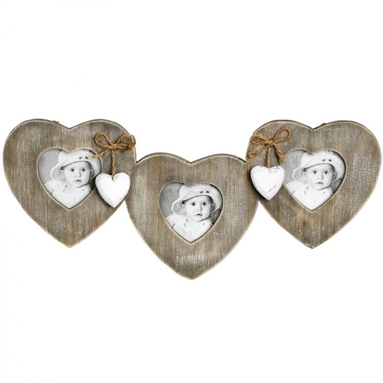 Fotoram tre hjärtan