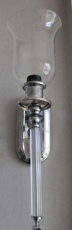 Vägglampa i krom 55 cm hög