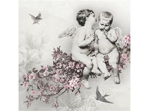 Servetter med änglar Vintage
