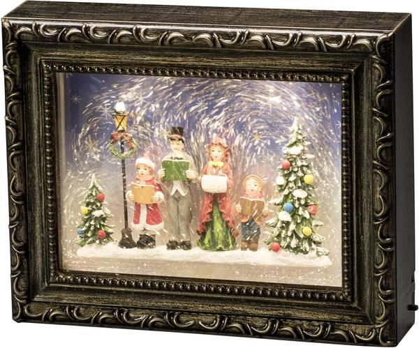 Dekorationsbelysning fotoram med julkör