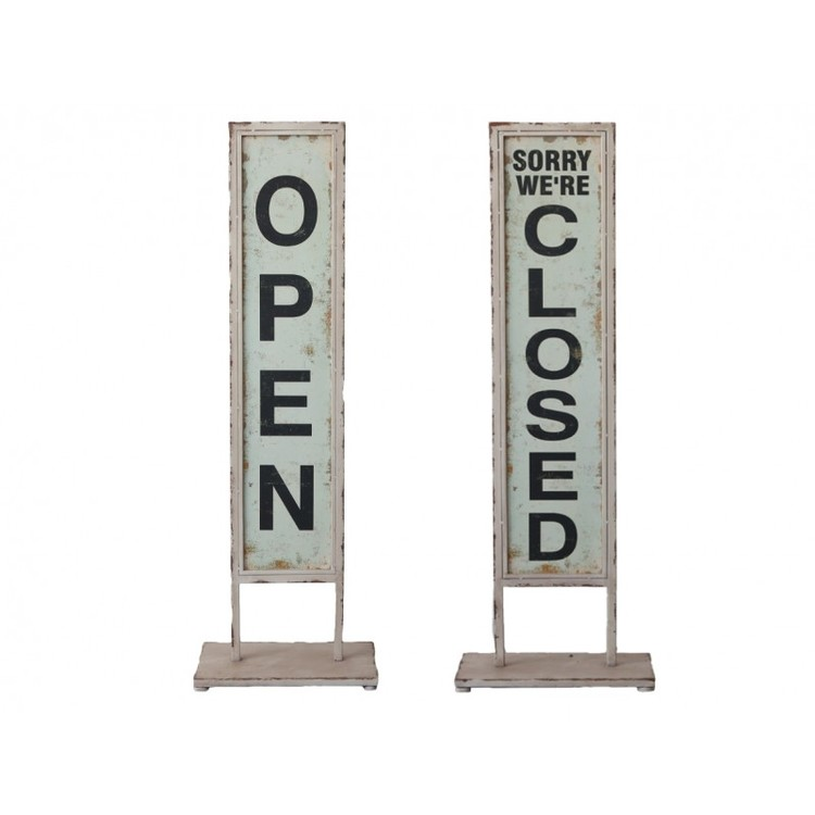 Skylt Open/Closed