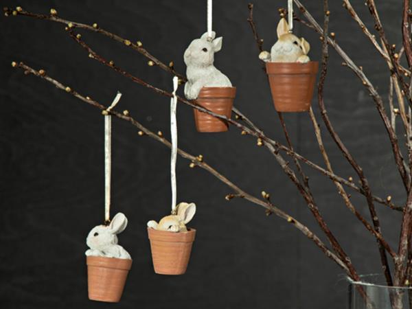 Söta kaniner i kruka 4-Pack