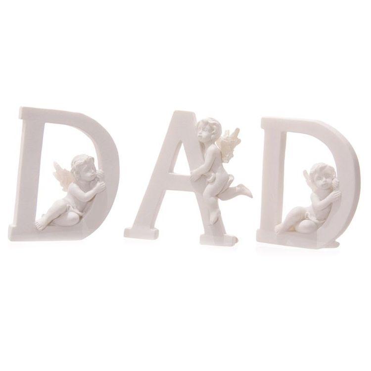 DAD bokstäver med änglar