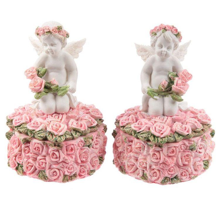 Askar med änglar och rosor-Par