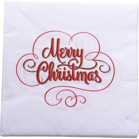 """Servetter med text """"Merry Christmas"""""""