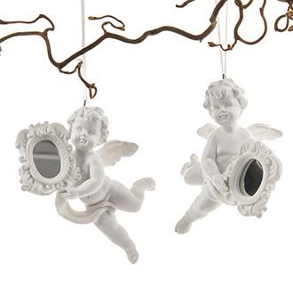 Hängandes änglar med spegel- 2 Set