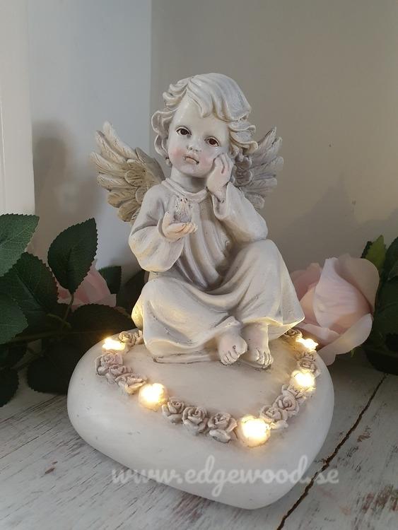 Sittandes ängel med Led belysning
