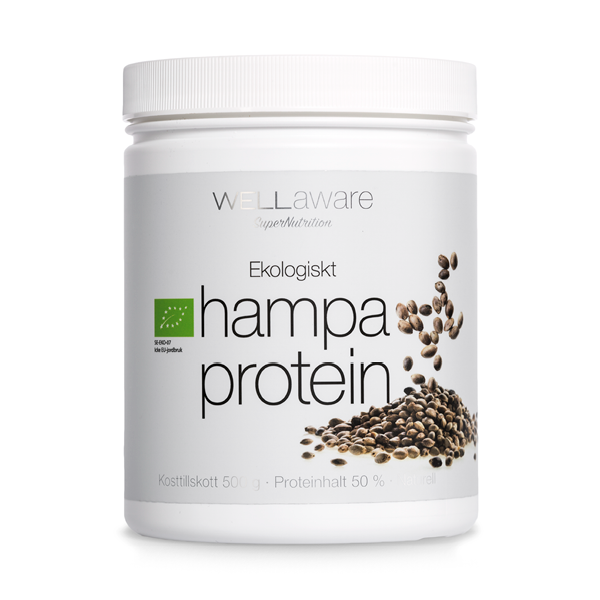 WellAware Hampaprotein Ekologiskt & Rawfood 500 g