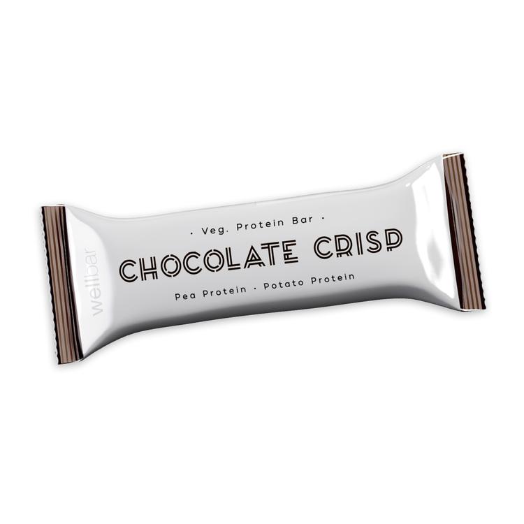 WellBar Chocolate Crisp 50 g - Vegetarisk, Glutenfri. Laktosfri.