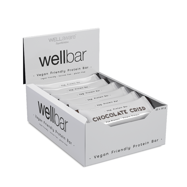 WellBar Chocolate Crisp 50 gram - Box 50 gram x 20 st