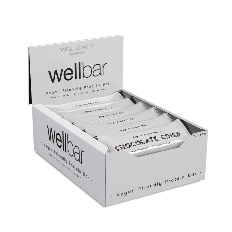 WellBar Chocolate Crisp 50 g - Box 50 g x 20 st