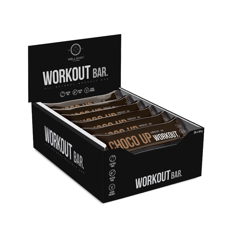 ChocoUp Workout Bar 50 g - Box 50 g x 20 st