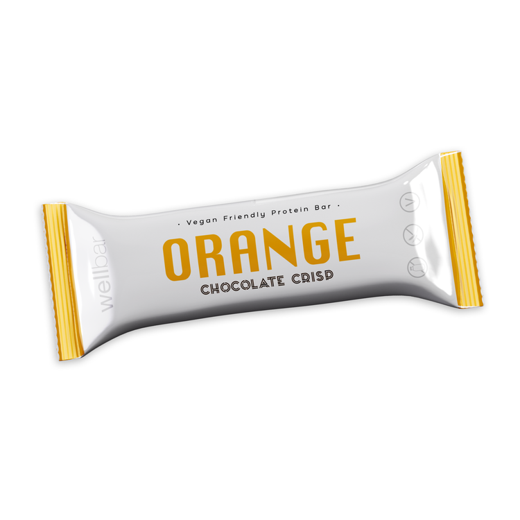 WellBar ORANGE Chocolate Crisp 50 g - Veg. Glutenfri. Laktosfri.