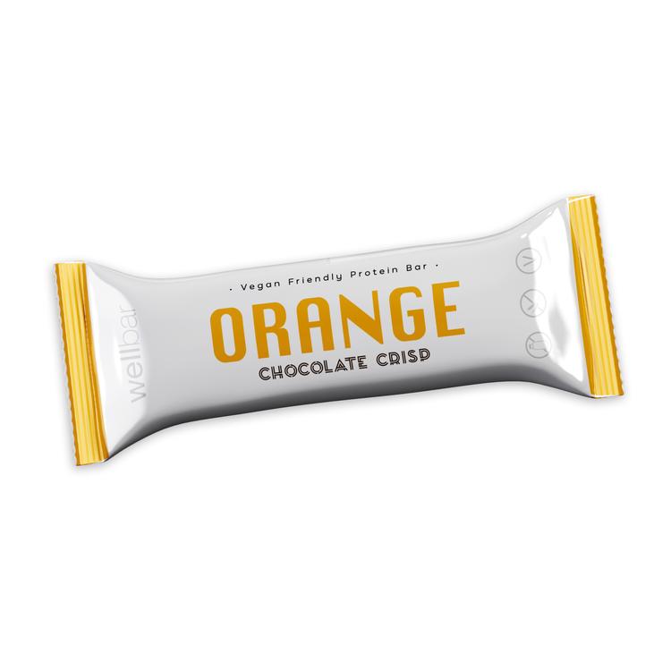 WellBar ORANGE Chocolate Crisp 50 g - Veg. Glutenfri. Laktosfri.