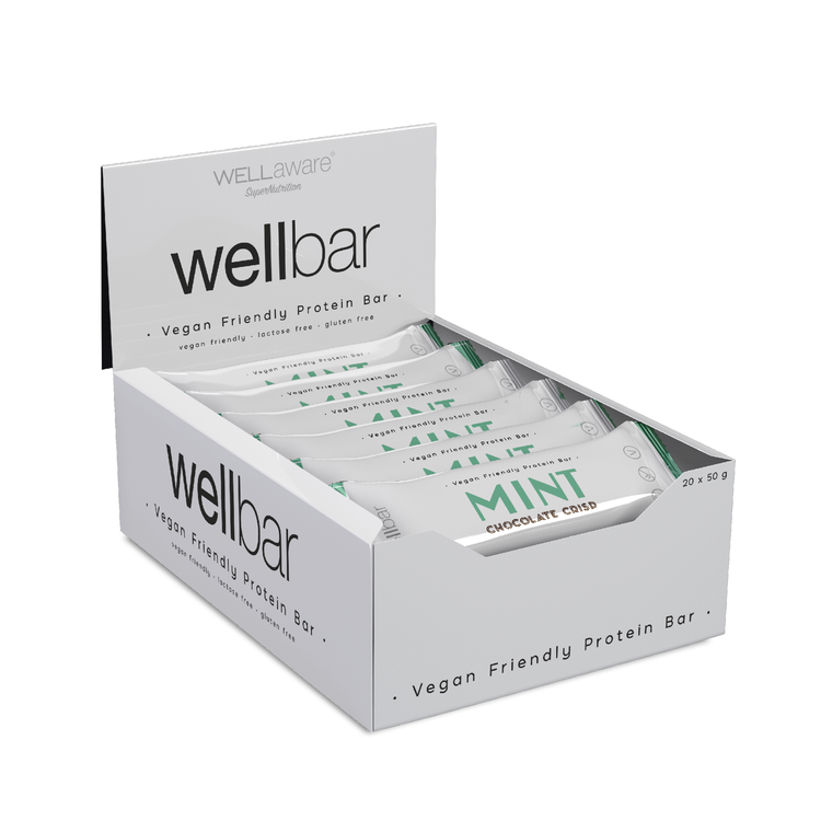 WellBar MINT Chocolate Crisp 50 g - Box 50 g x 20 st