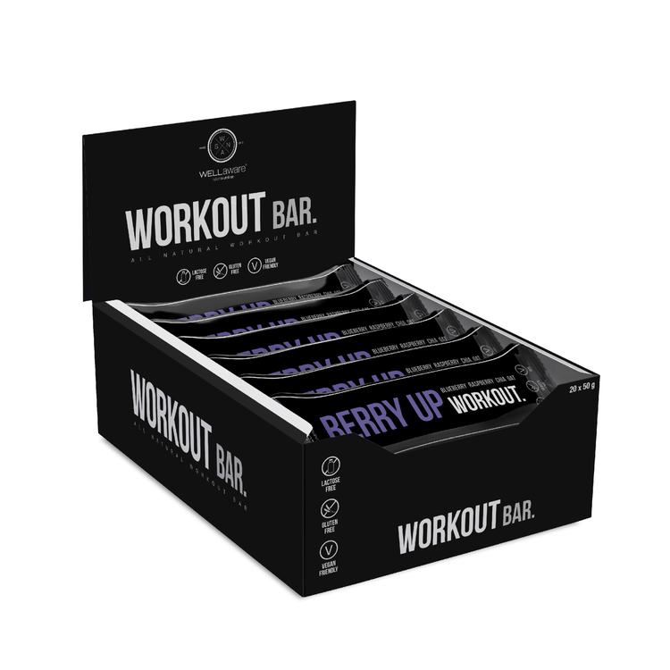 BerryUp Workout Bar 50 g - Box 50 g x 20 st